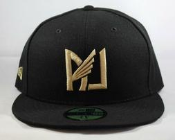 LAFC New Era 59FIFTY Fitted Men Women Black Gold LA Icon Hat