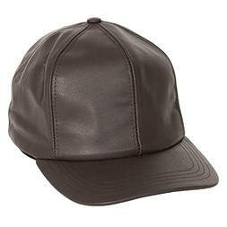 Levine Men's Structured Fitted Garment Leather Baseball Cap
