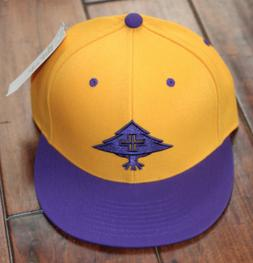 LRG Lifted Research Group Men's Gold Purple Fitted Hat Cap S