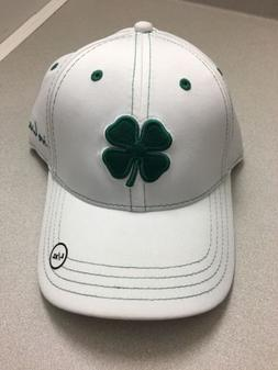BLACK CLOVER LIVE LUCKY~ Premium Clover Fitted Hat~ L/XL~ Wh