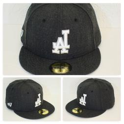 Los Angeles DODGERS Custom Heather Charcoal Grey Fitted Hat