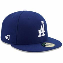 New Era LA LOS ANGELES DODGERS Game 5950 Blue MLB Fitted Hat