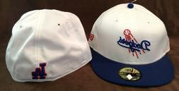 Los Angeles Dodgers MLB New Era 59FIFTY Fitted Hat White/Blu
