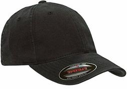 Flexfit Low-profile Soft-structured Garment Washed Cap Black