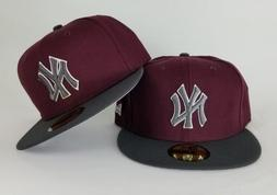 New Era Maroon / Dark Grey New York Yankee 59Fifty Fitted ha