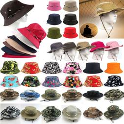 Men Boonie Bucket Hat Bush Cap Fishing Military Hunting Safa