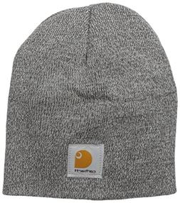 Carhartt Men's Acrylic Knit Hat, Heather Grey/Coal Heather,