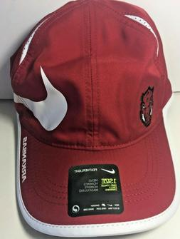 Men's Nike Arkansas Razorbacks Hat Cap Featherlight Swoosh D