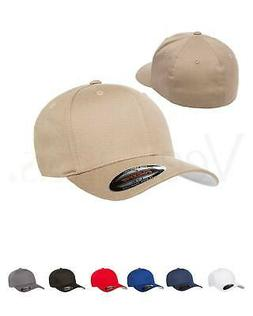 Flexfit Men's Cotton Twill Fitted Baseball Plain Hat Cap, 50