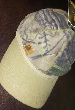 * Carhartt Men's Force Fleece Hat camo Real Tree  Stretch Fi