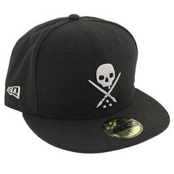Sullen Men's Ne Eternal Fitted Hat Black   Hip Hop Skull Clo