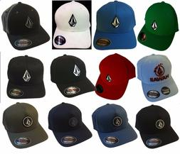 MEN S VOLCOM ORIGINAL FLEXFIT HAT FITTED HAT CAP f5dd1801c1d7