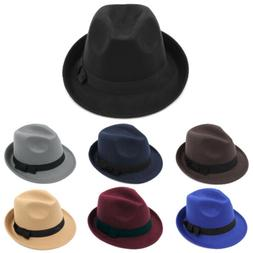 Men Women Kids Children Boys Fedora Hats Trilby Caps Jazz Pa