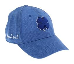 Black Clover Mens Crazy Luck 3 Hat Fitted Cap - Royal/White
