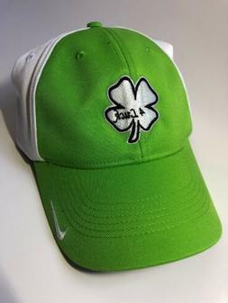 Mens NIKE fitted Golf Hat W/ White/ Black Clover 4Luck Logo