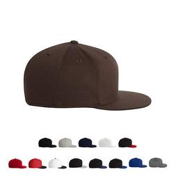 Flexfit Mens Hats Guys Flat Bill Cap 6210FF