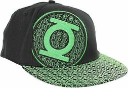 Mens NWT Official DC Comics The Green Lantern Fitted Flat Bi