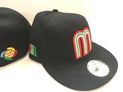 New Era Mexico Black World Baseball Fitted 5950 Cap Hat Size