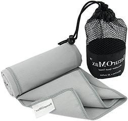 SecurOMax Microfiber Travel Sports Towel  with Portable Mesh