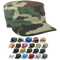 Military Fatigue Cap Fitted Tactical Uniform Camo Hat Army F