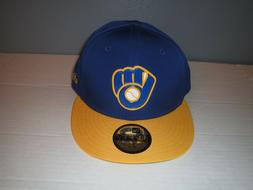 New Era Milwaukee Brewers Fitted Hat MLB Cap 7 1/2, 7 5/8, M