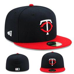 New Era Minnesota Twins 5950 Black Youth Fitted Hat Official