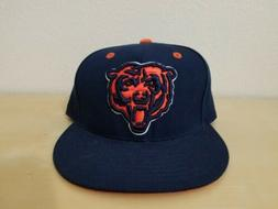 MITCHELL AND NESS CHICAGO BEARS FITTED HAT CAP NAVY ORANGE M