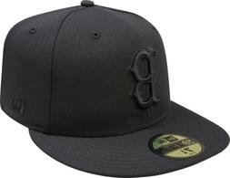 MLB Boston Red Sox Black on Black 59FIFTY Fitted Cap, 7 1/4
