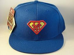 mlb new york mets superman fitted hat