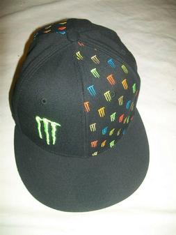 MONSTER ENERGY MULTI M'S 7 3/8 FITTED HAT/CAP,fox racing,kaw