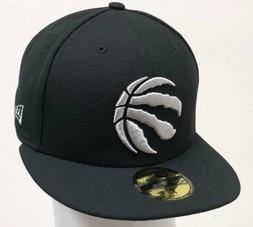 nba 59fifty fitted toronto raptors black white