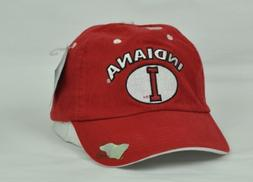 NCAA Indiana Hoosiers Donegal Bay Mens Hat Cap Flex Fit  Red