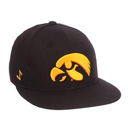 ZHATS NCAA Iowa Hawkeyes Men's M15 Fitted Hat, 7_1/2, Black