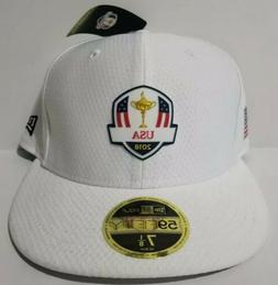 NEW 2018 NEW ERA GOLF 59FIFTY USA RYDER CUP Fitted Flatbill