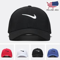 New Adjustable Fit Nike Golf Baseball Cap Swoosh Front Fit P