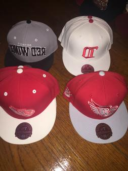 New Adult Mitchell & Ness NHL Detroit Red Wings Fitted Hats
