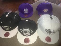 New Adult Mitchell & Ness NHL Los Angeles Kings Fitted Hats