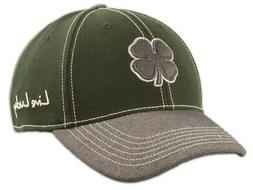 NEW Black Clover BC Wool #1 Dark Green/Grey Fitted L/XL Golf