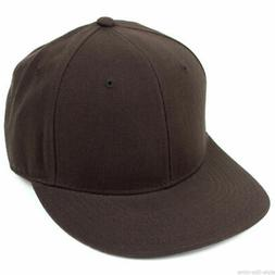 New Fitted Baseball Hat Cap Plain Basic Blank Color Flat Bil