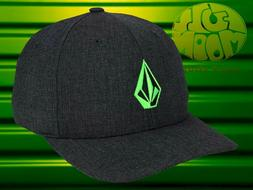 New Volcom Full Performance Heather Neon Green Stone Flexfit