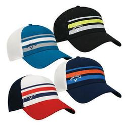 NEW Golf Callaway Men's Stripe Mesh Fitted Hat - Choose Size
