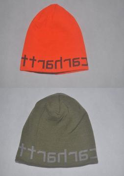 New CARHARTT Men Knit Greenfield Reversible Hat Stocking Win