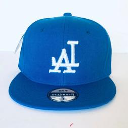 NEW Mens LA Dodgers Baseball Cap Fitted Hat Multi Size Blue