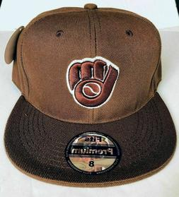 NEW Mens Milwaukee Brewers Baseball Cap Fitted Hat Multi Siz