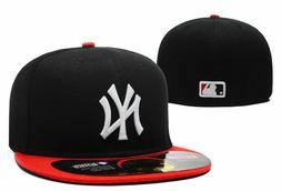 NEW! New Era New York Yankees 5950 MLB Navy Blue/Red Fitted