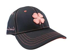NEW Black Clover Premium Clover #47 Black/Coral Pink Fitted