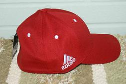 New Adidas Taylormade Mens Golf Tour Fitted Flex Hat Cap Red