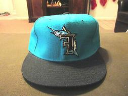 NEW VINTAGE Florida Marlins New Era Fitted Hat Size 7 1/8 Mi