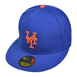 New Era New York Mets 59fifty Men's Fitted Hat Cap Blue/Oran
