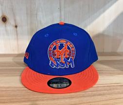NEW ERA NEW YORK METS  BLUE ORANGE FITTED HAT CAP 59FIFTY ME